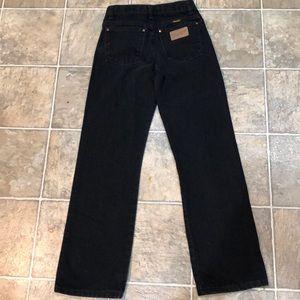 Boys black Wrangler jeans 14slim